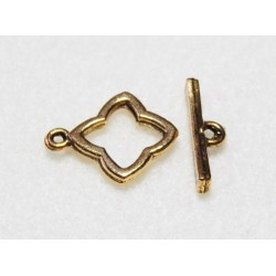 15 mm Antiqued Gold Toggle Clasp