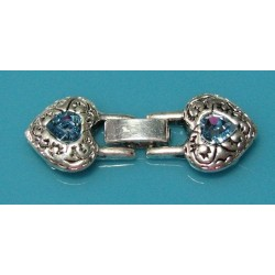 13x16 mm Swarovski 3 Strand Snap Closure Clasp Blue