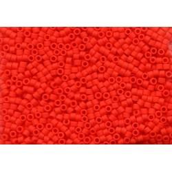 10 Grams DB757 Miyuki Matte Op. Vermillion Red Size 11 Delica Beads